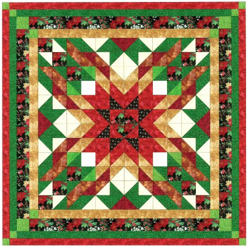 Easy Quilt Kit Christmas Star-ships Within 3 Business ()