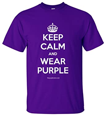Amazon.com: Keep Calm And Wear morado Tee, tallas juveniles ...
