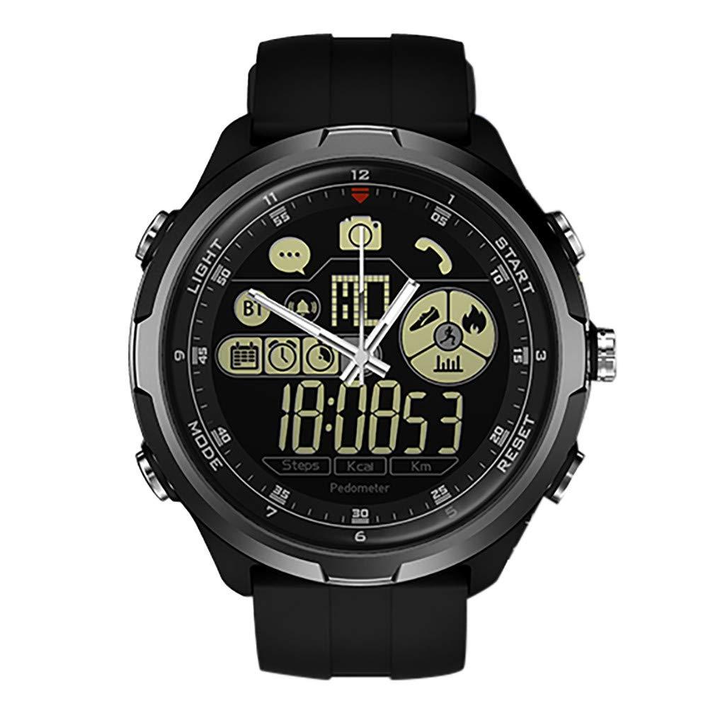Cywulin Zeblaze Vibe 4 Hybrid Smart Watch Fitness Tracker, IP67 Waterproof Sport Activity Tracking Bracelet Bluetooth Camera iOS Android Men Women Long Battery Life Luminescent Display (Black)