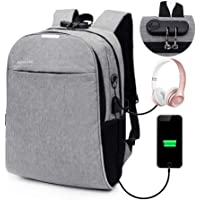 Anti Theft Backpack, Lesgos Slim Durable Laptop Bags With USB Charging Port For Business, School, Travel For Men And Women, Fits Under 15.6 Inch Laptop, Tablet, Notebook, Etc