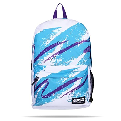 eaa782566130d Amazon.com: PSD 90's Cup Backpack, White, One Size: Sports & Outdoors