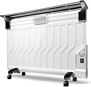 TY BEI Home heater-White mechanical version Oil Filled Radiator Heater Mini Portable Electric Room Thermostat,Ultra-thin and Energy saving/2200W |