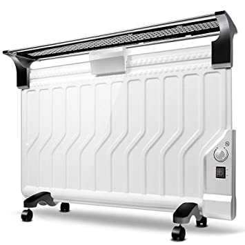 Lxn Versión mecánica Blanca Calentador de radiador Lleno de Aceite Mini termostato portátil de Sala eléctrica, Ultrafino y Ahorro de energía (2200W): ...