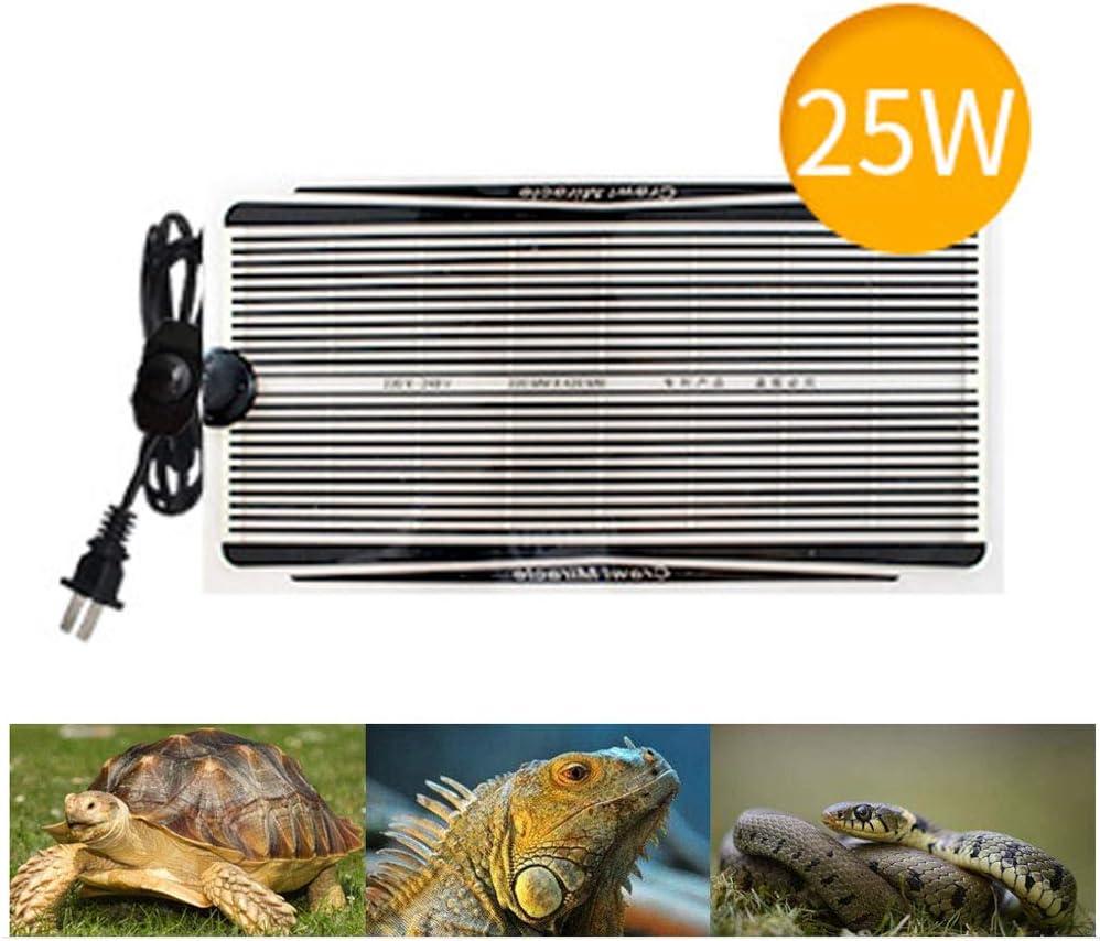 LGFB Almohadilla calefactora de Reptiles Ajustable con Control de Temperatura Calentador de Mascotas Moho a Prueba de Humedad Tortuga Serpientes Lagarto Gecko Spider Crawler Seguro,25w: Amazon.es: Deportes y aire libre