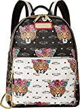 Betsey Johnson Womens Jungle Backpack Black/Bone