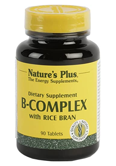 B Complex With Rice Bran Natures Plus 90 Tabs