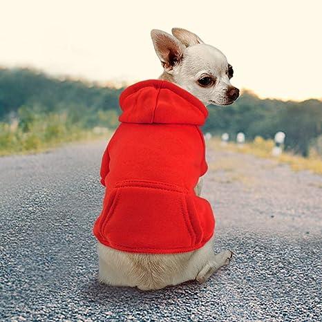 Idepet Abrigo Capucha para Perros o Gatos, Hecho de algodón, para Perros pequeños, Cachorros, Chihuahua u Osos de Peluche