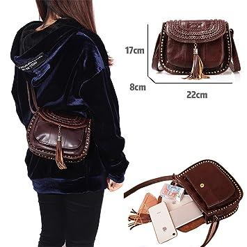 Amazon.com: Messenger Bags Crossbody Bags Shoulder Genuine ...
