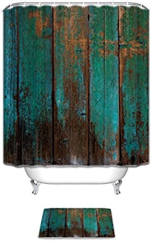 Amazon.com: Vandarllin Country Rustic Distressed Teal Green Barn