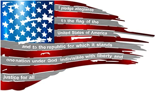 Precision Metal Art Tattered Color American Flag