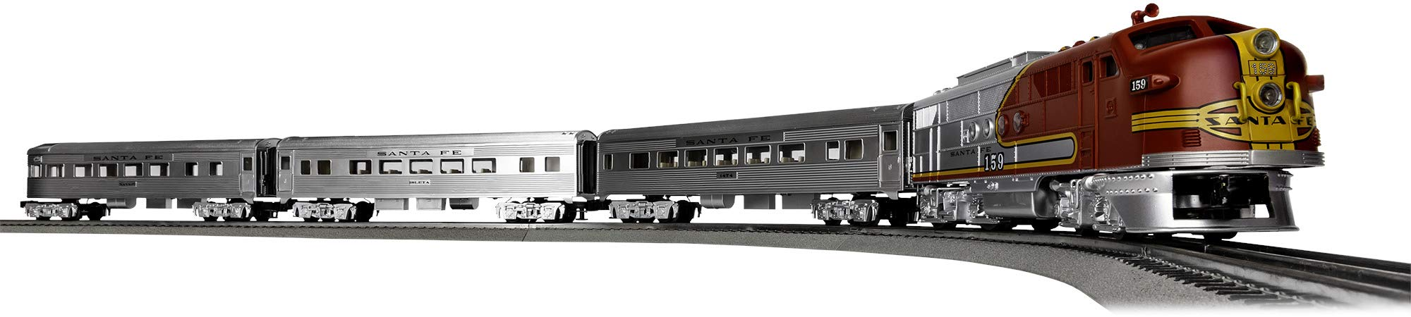 Lionel Santa Fe Super Chief Electric O Gauge Model Train Set w/ Remote and Bluetooth Capability by Lionel
