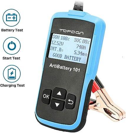Tt Topdonab101 Autobatterie Tester Autobatterieanalysator Für Cranking Charging Test Und Battary Load Test 12 24v Auto