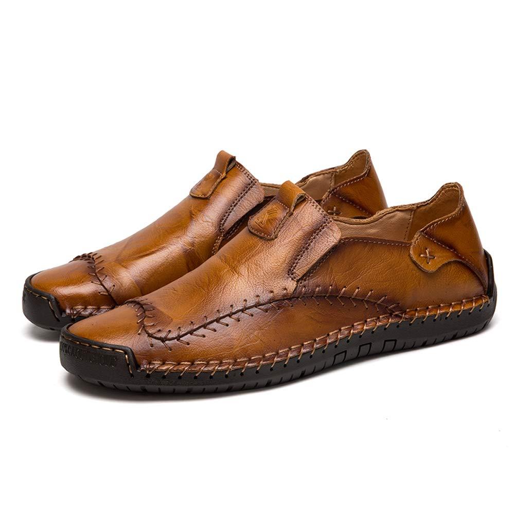Mocasines Zapatillas Hombre Cuero Casuales Zapatos Caballero Trabajo Ligeras Ponerse Centavo Conducción Barco Vestido Formal product