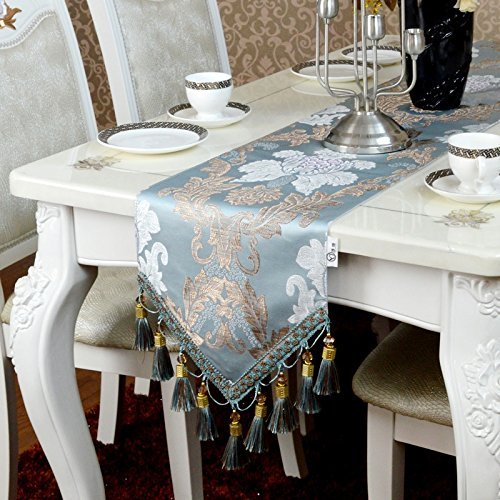DIDIDD Blue abstract style handmade tablerunners artistic top decoration dining table runner(30180cm,30200cm),30180Cm by DIDIDD