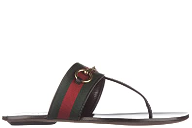 04bf82585 Gucci women's leather flip flops sandals lifford black UK size 5.5 435232  H9020 8476
