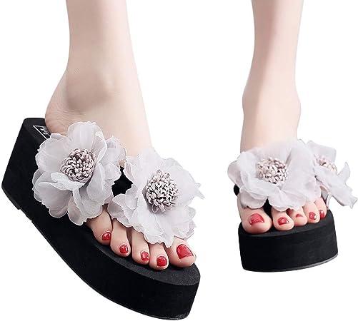 Zapatillas de playa para mujer con diseño de flores de verano: Amazon.es: Hogar
