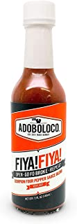 product image for Adoboloco Hot Sauce FIYA! FIYA! Delicious Hawaiian Scorpion 4-Pepper Sauce - Very Hot Tasty Fiery Chili Pepper Sauce Featured on Hot Ones!