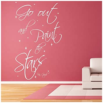 Paint The Stars Van Gogh Life Quotes Wall Sticker Home Art Decals