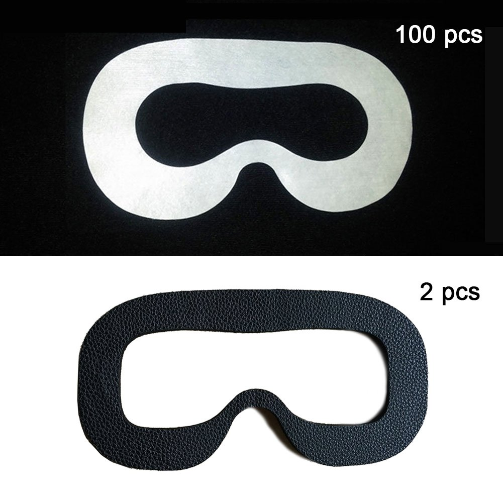 102 Uds. Máscara Facial de Ojos Higiénica, Desechable, para Gafas HTC Vive Headset VR Virtual Reality, Blanco: Amazon.es: Electrónica