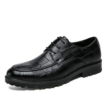 HILOTU Hombres Zapatos de Vestir Oxford Calzado de Traje ...