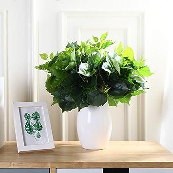 Justoyou Künstliche Pflanzen, Grün, Für Drinnen, Draußen, Garten, Badezimmer,  Dekoration