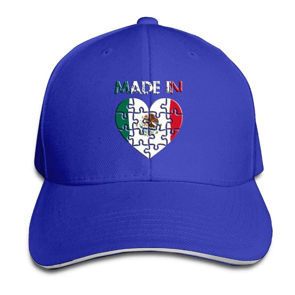 JustQbob1 Made in Mexico Snapback Sandwich Cap Adjustable Baseball Hat Dad Hat