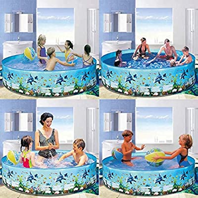 wumedy Home Outdoor Round Portable Family Children Playing Water Pool Baby Floats: Home & Kitchen