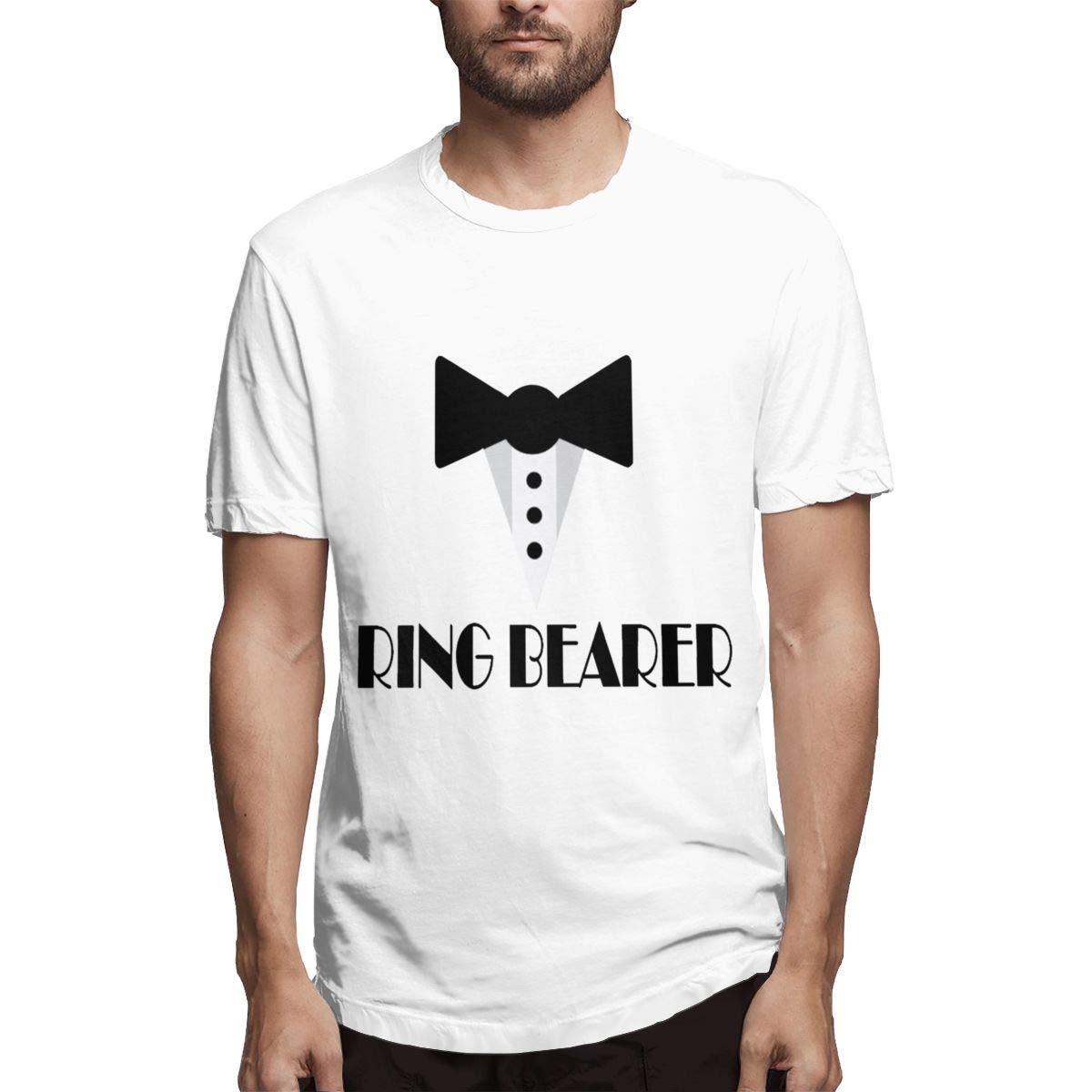 LANBRELLA Mens Ring Bearer Ringbearer Wedding Party Ultra Soft Crew-Neck Short Sleeve T-Shirt for Mens