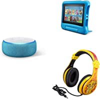 Fire 7 Kids Edition Tablet + Echo Dot Kids Edition + Lion King Headphones