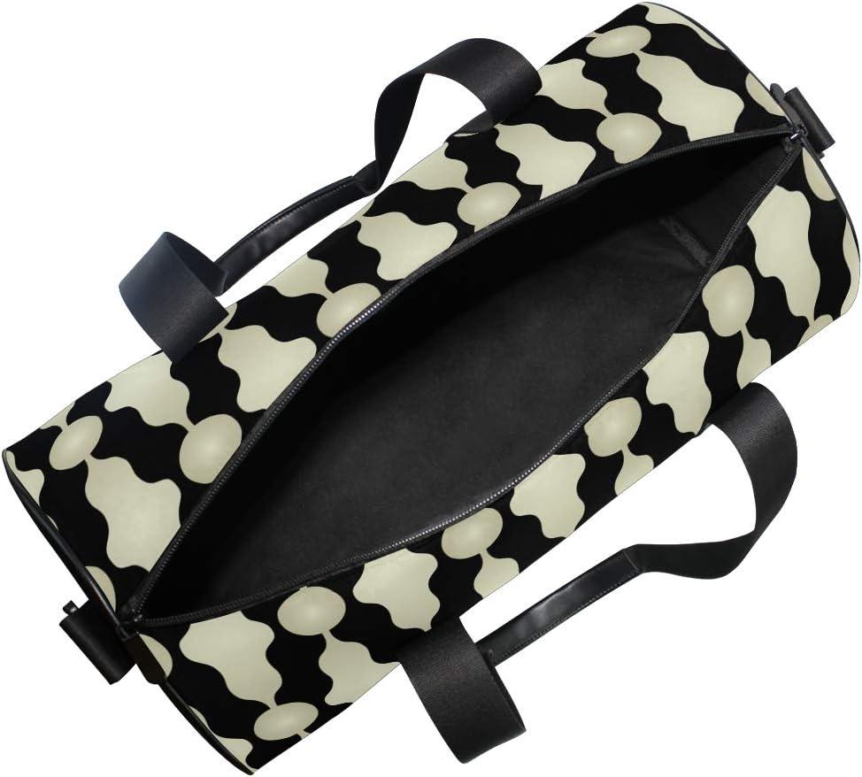 MALPLENA Peculiar Shape Light Drum gym duffel bag women Travel Bag