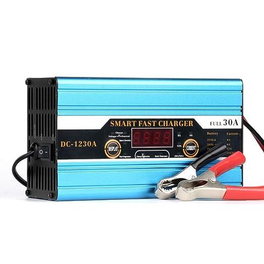 LanPerro Cargador Automático De Batería De Coche, Cargador ...