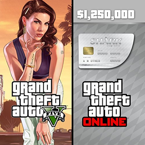 Grand Theft Auto V & Great White Shark Cash Card Bundle - PS4 [Digital Code]