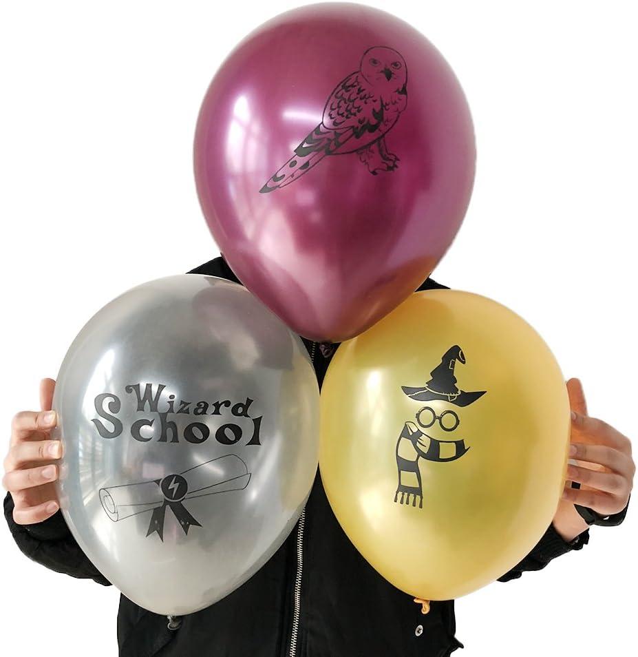 Amazon.com: Potter Party Globos de cumpleaños Wizard School ...