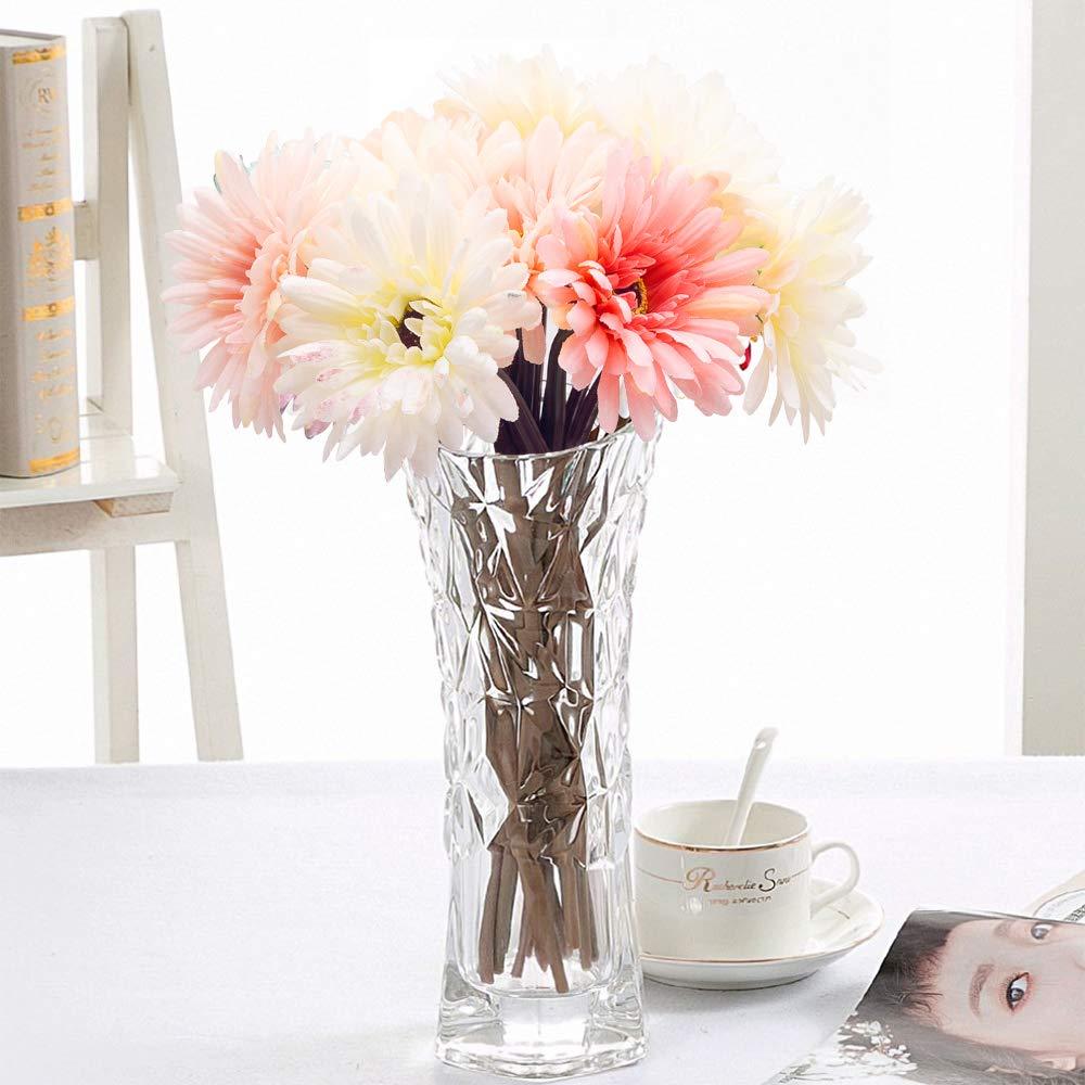 VGoodall 14 Pcs Künstliche Blumen Seidenblumen, Unechte Deko Blumen Gefälschte Blumen für Haus Garten Party Blumenschmuck