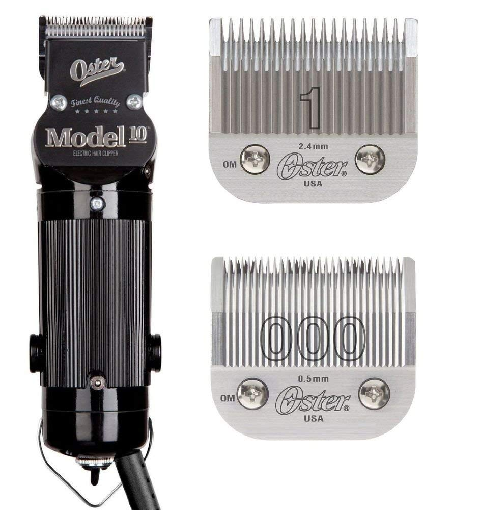 Oster Model 122 Professional Hair Clippers with Exclusive Break Resistant  Housing, Comes with #122 Blade and BONUS FREE #12 Blade
