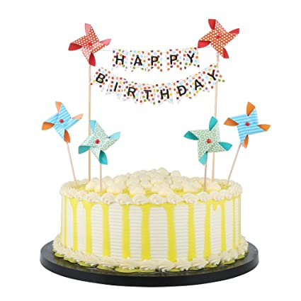 Amazon PALASASA Small Windmill And Speckle Happy Birthday