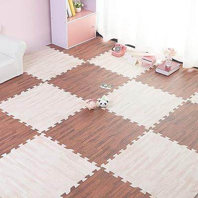 Children Foam Mat,30x30x1cm Splicing Wood Grain Tatami Crawling Mat,Puzzle Building Block Baby Floor Mat-f 40pcs: Home & Kitchen