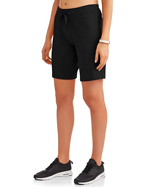5d9f33574f331 Athletic Works Women's Essential French Terry Bermuda Shorts Black Small at  Amazon Women's Clothing store: