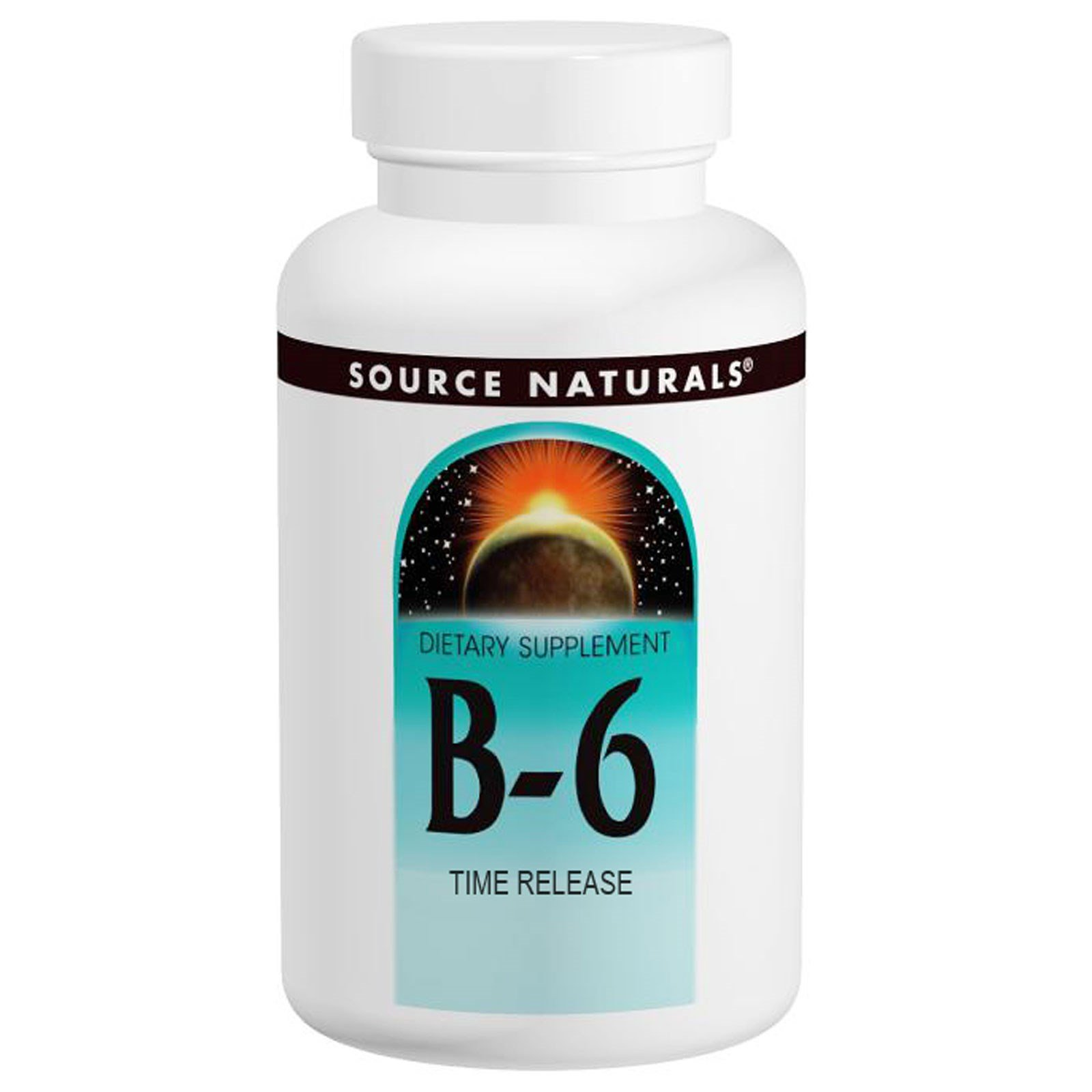 Vitamin B-6, 500 mg, Time Release, 100 Tabs by Source Naturals (Pack of 6)