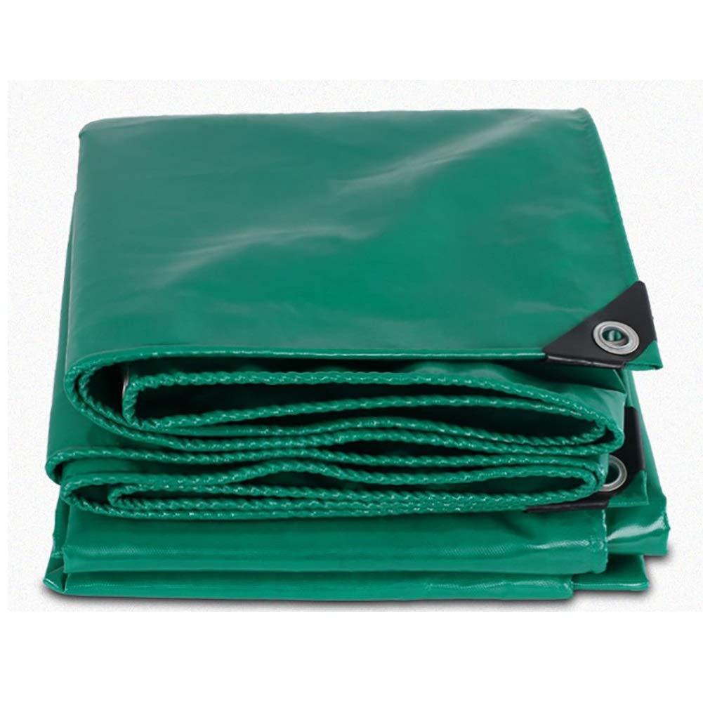 タープ 耐久性のあるターポリンを守りますサンプロテクション防水トラックターポリン - 530グラム/平方メートルのターポリンで作られたプレミアム品質のカバー (色 : Green, サイズ さいず : 5×7M) 5×7M Green B07JX5PZD1