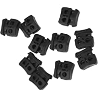 Imported 10pcs Black Cord Lock Stopper Shoelace Buckle End Toggle Rope Adjuster