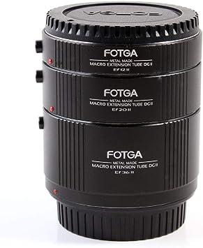 Fotga Metal Electronic Full Metal Auto Focus Macro Extension Tube 13mm+20mm+36mm Set for Canon EOS EF /& EF-S Mount 5D2 5D3 5DIV 5DS 5DSR 6D II 7D//7DII 77D 80D 650D 750D 800D 1300D 1500D DSLR Cameras