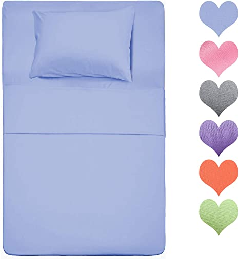 Best Season 400 Thread Count Cotton Twin Size Sheet Set Baby Blue Color 3 Piece 100 Long Staple Cotton Sheets Set Soft Cotton Bed Sheets Sets With Deep Pocket Fit