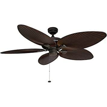 Amazon honeywell palm island 52 inch tropical ceiling fan honeywell palm island 52 inch tropical ceiling fan five palm leaf blades indoor mozeypictures Choice Image
