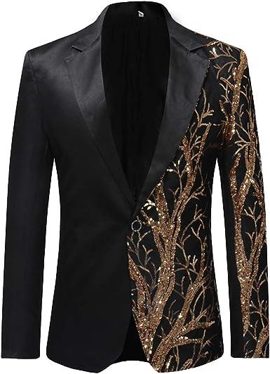 Stylish Men/'s Casual Slim Fit One Button Suit Blazer Coat Jacket Tops UK 2019