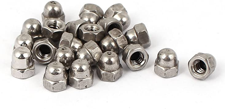 uxcell 10#-24 Dome Head 316 Stainless Steel Cap Acorn Hex Nuts 20pcs a16032200ux1113