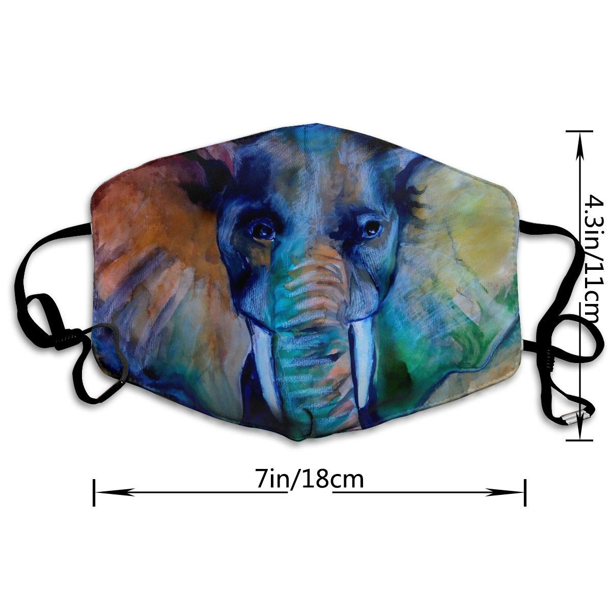 Colorful Elephant Unisex Anti Dust Mouth Mask Face Mask Anti