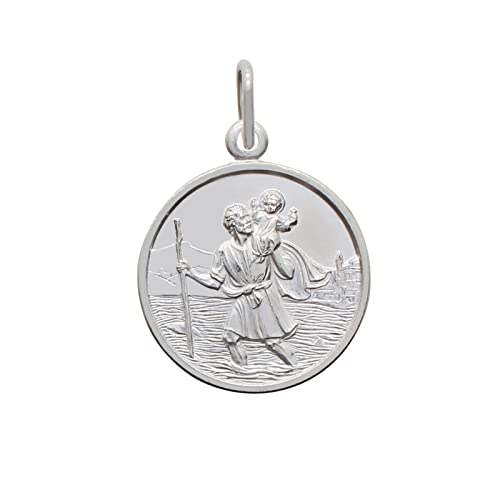 STERLING SILVER 925 St Christopher NECKLACE UK SUPPLIER Fast And Free Delivery!