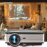 EUG Video Projectors 3500 Lumen Full HD 1080P Support TFT LCD 200 Widescreen Multimedia HDMI Projector Home Theater for Gamed Playstation Outdoor Entertainment Laptop Hard Disk, with 10W Speaker