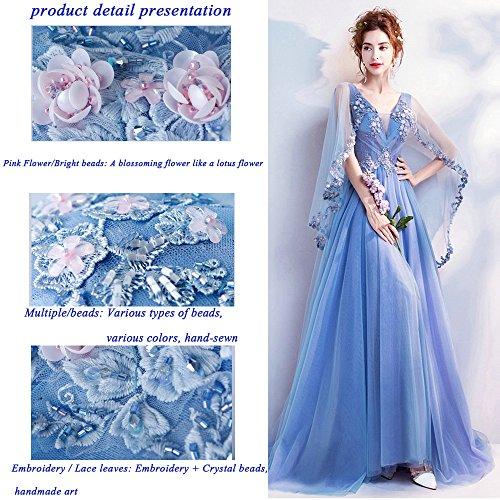 Brindisi Vestito Nuova M Matrimonio Moda Romantico Donne Da Blue Elegante Cena Sposa Servizio Eleganza Blu Partito 2018 Uwv7Hnq5